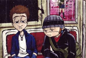 Dont Fall Asleep On The Subway by RiffThirteen