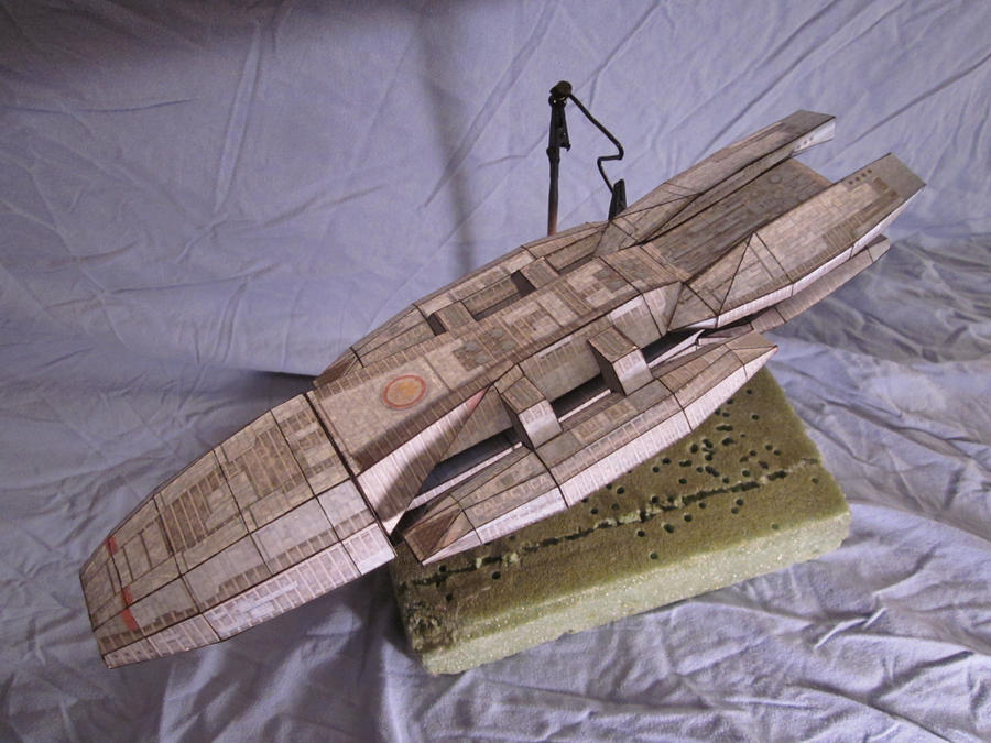 Papercraft battlestar galactica side by enc86