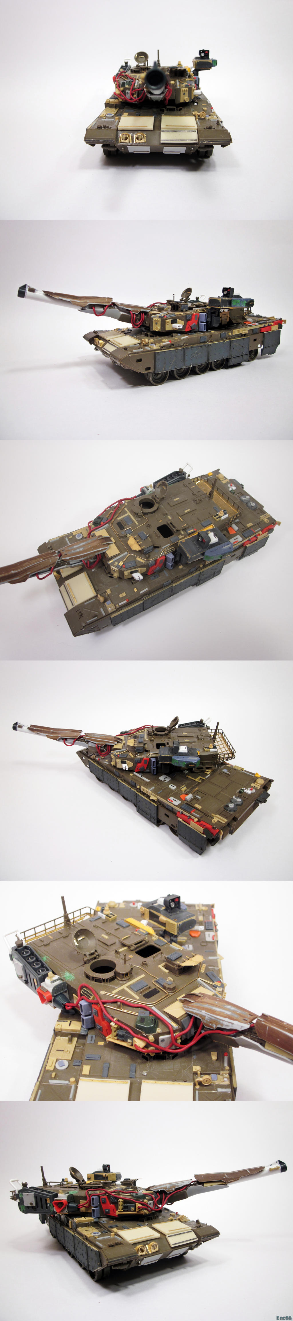 kitbashed tank befor the paint by enc86