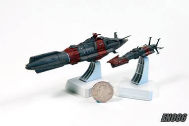 Space Cruiser and Destroyer