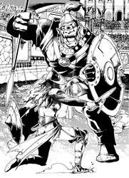 GLADIATOR VS CYCLOPS by josephcaesarsd