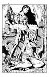 Supergirl vs. Black Flame INKS