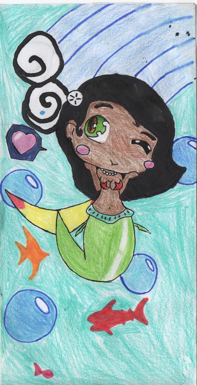 Chibi mermaid by atlantian-gard