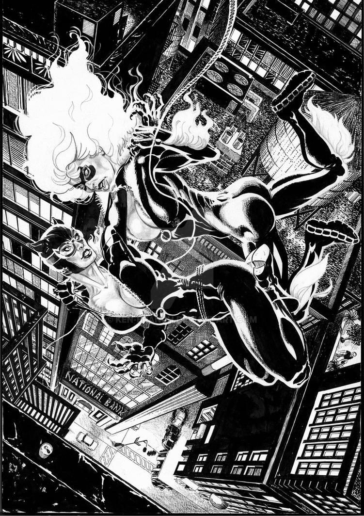 Spiderman Beat Black Cat