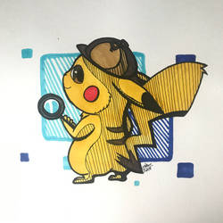 Detective Pikachu by swim-fin
