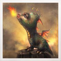 Enchanting dragon by ines-ka