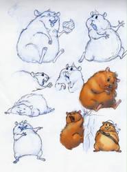 hamster Jolly Roger sketch by ines-ka