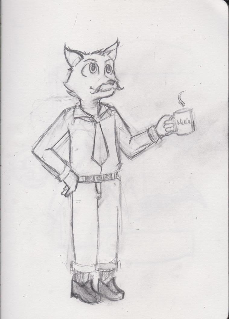 Mr. Wolf Morning Coffee by F4ppyH4ppy