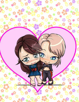 My Commission: Chibi Emily and Decka