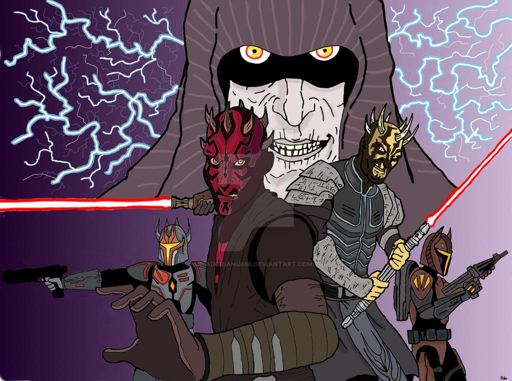Darth Maul and Savage Opress-Sons of Dathomir by Adorianu666