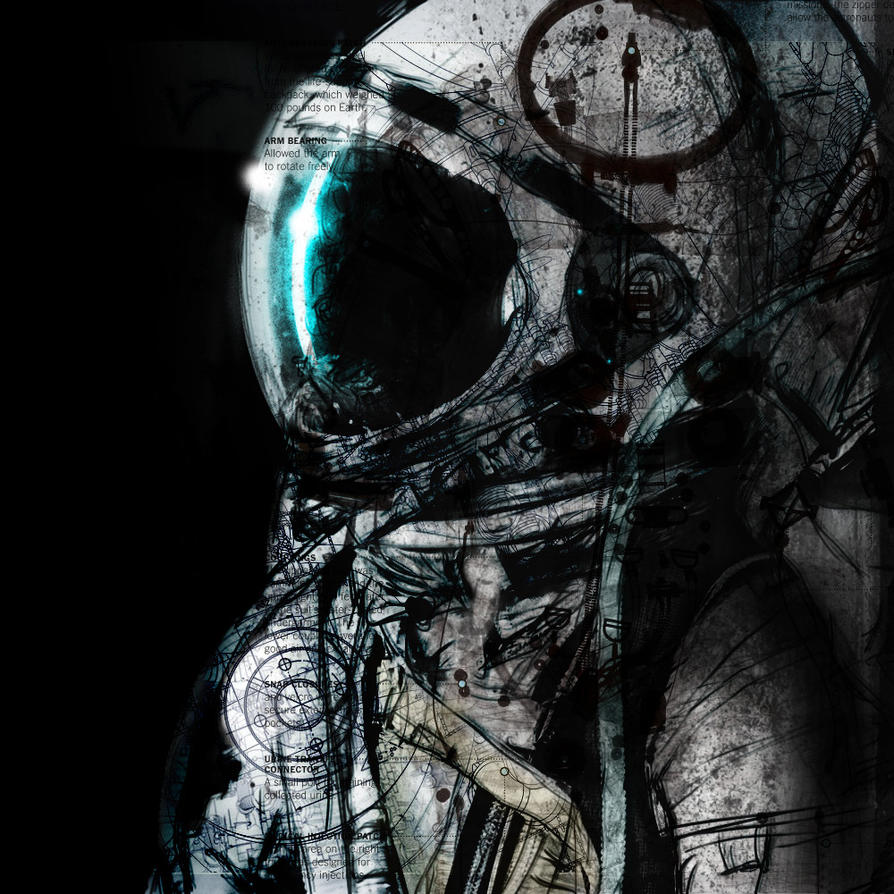cool astronaut in space - photo #27