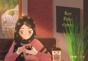 Warm Cafe by nisageijutsu
