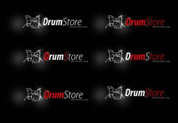 Drumstore logo dark v1 by kowreu