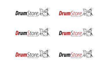 DrumStore logo white v2 by kowreu