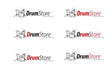 DrumStore logo white v1 by kowreu