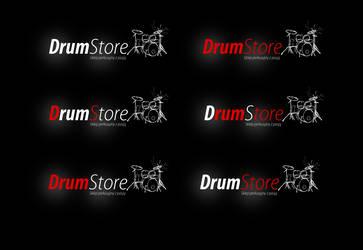 Drumstore logo dark v2 by kowreu