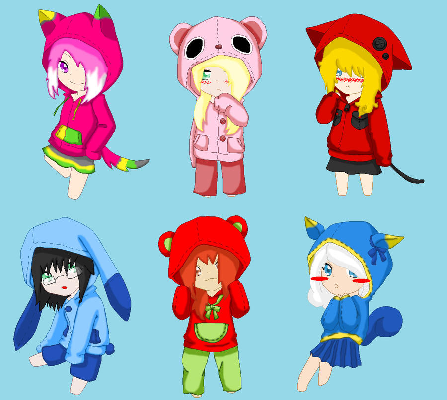 The gallery for --> Anime Girl In Hoodie Base Anime Female Base With Hoodie