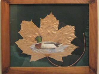 Maple Leaf Loon by WingDiamond