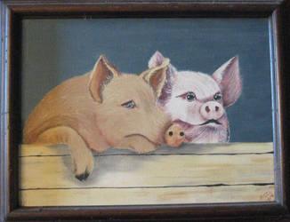 Wonky Pig Nose by WingDiamond
