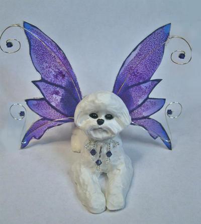 Bichon Frise Fairy by dreamweaversculpts