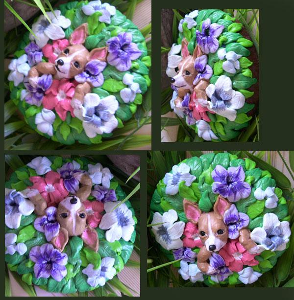Chihuahua Floral by dreamweaversculpts