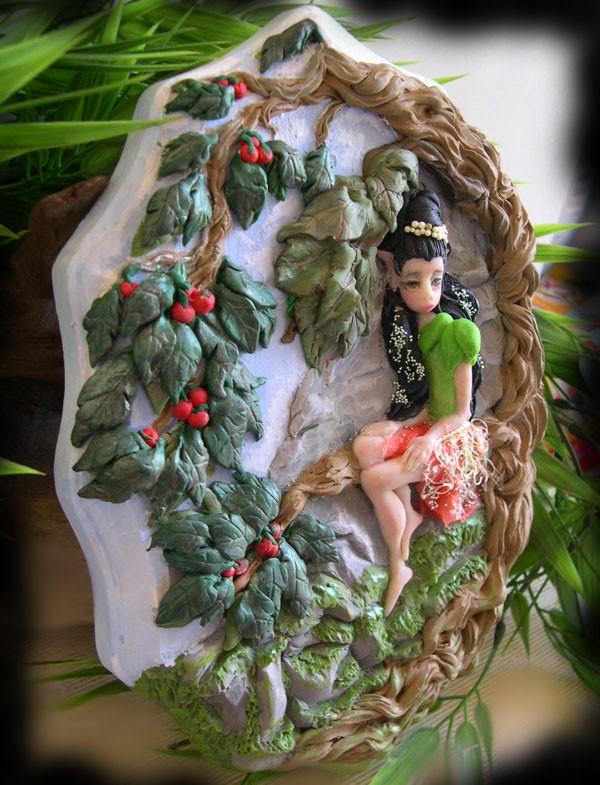 Mossyrock Mountain Elf by dreamweaversculpts