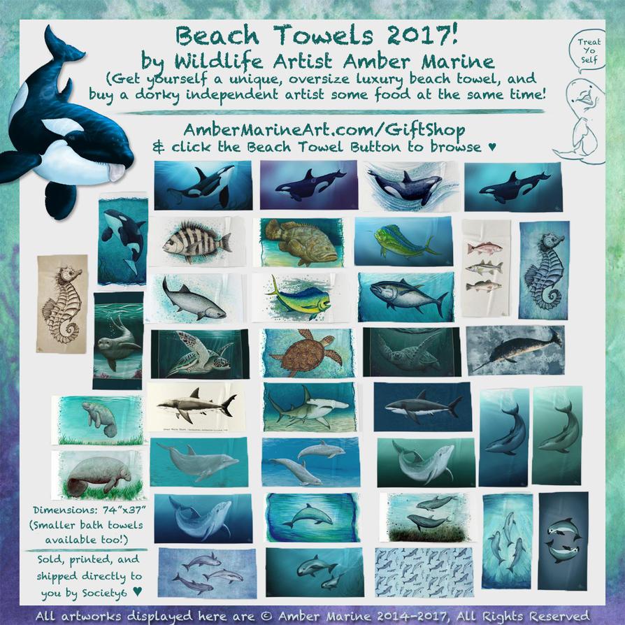 Marine life artist plus beach towels equals neato by Ahzuriel