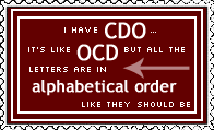 OCD Stamp by AcidaliaAdrasteia
