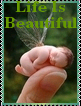 Life Is Beautiful Stamp by AcidaliaAdrasteia