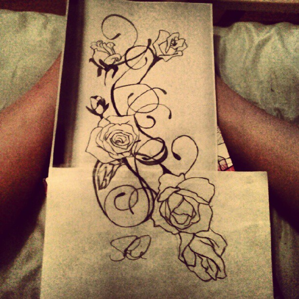 rose and vine tattoo sketch by sd2kool4u on deviantart