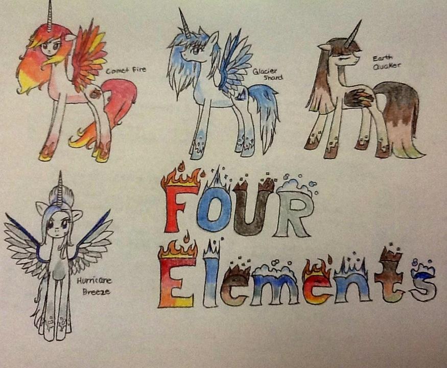 Four Elements Art : Four elements wallpaper full version by rainbowdragon127 on deviantart
