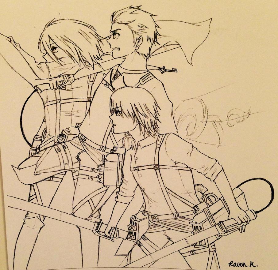 AOT Trio by RainbowDragon127