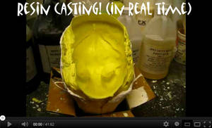 resin blank casting in real time video