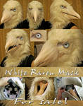 White raven mask NOT FOR SALE SOLD