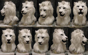 White lion head commission by Crystumes