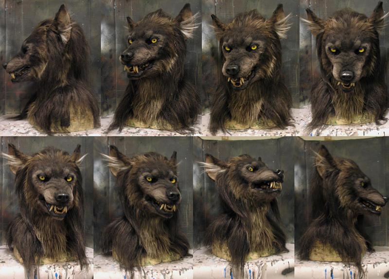 Snarly werewolf mask!
