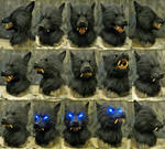 Snarly black werewolf mask by Crystumes