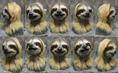3 toed sloth mask! by Crystumes