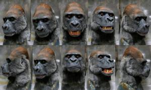Lowland Silverback Gorilla mask (for sale)