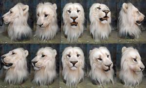 Golden albino lion mask