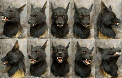 EVIL werewolf mask commission