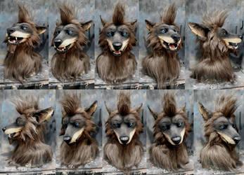 Box Doom werewolf custom commission mask