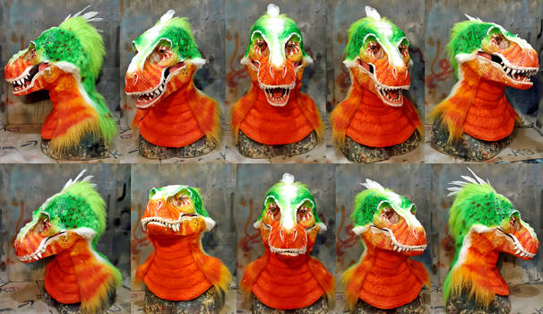 Chamelion Dino Mask (partial for sale now!)