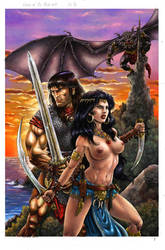Conan Queen Of The Black Coast Pin Up by BillyMD