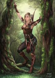 Wood Elf by BillyMD