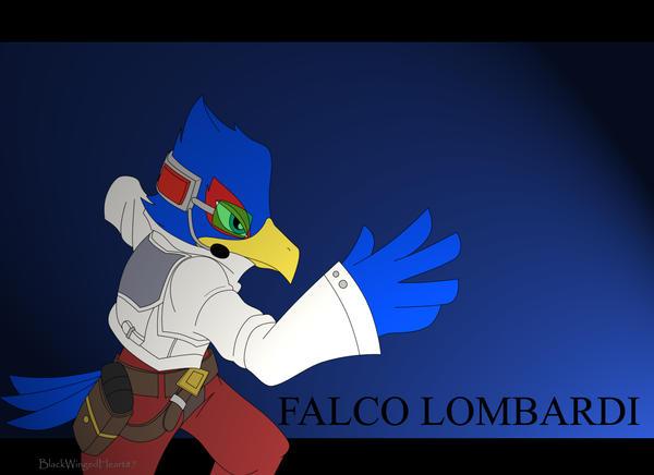 SSBB FALCO LOMBARDI by BlackWingedHeart87Falco Ssbb Drawings