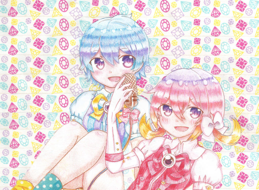 Hoshion Yoru and Kiri-PON PON PON by RubyMoonBunnyRainbow