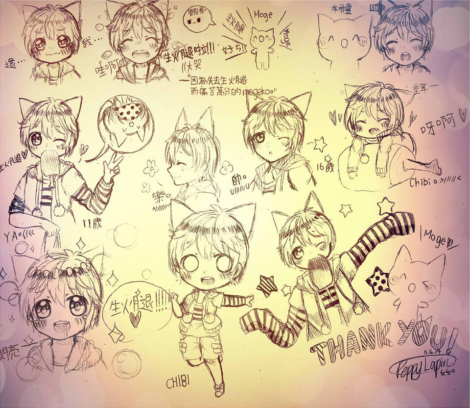 Mogeko Castle doodle dump by RubyMoonBunnyRainbow