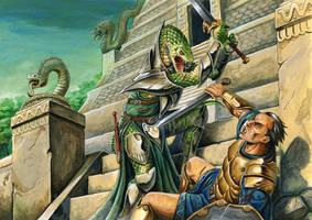Serpent Folk Half-Pager by FStitz