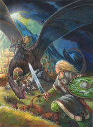 Eowyn vs the Nazgul by FStitz